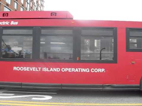 Roosevelt Island Operating Corporation bus along Main Street