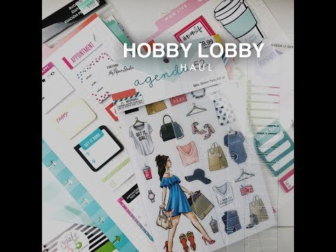 Hobby Lobby Haul - The Happy Planner, Agenda 52 | Planning With Kristen