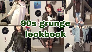 90s grunge lookbook (5 outfits)