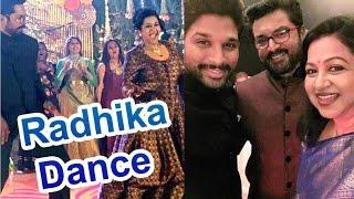 Chiranjeevi | Allu Arjun Dancing in | Radhika Sarathkumar's Daughter Rayane's Sangeet |