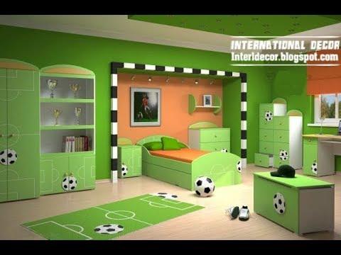 ‼️ Football Room Decor Ideas   DIY Makeover Setup Themed Tour   Interior Design Decorating Plan