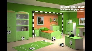 ‼️ Football Room Decor Ideas | DIY Makeover Setup Themed Tour | Interior Design Decorating Plan