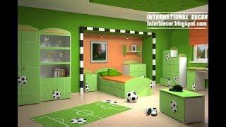 ‼️ Football Room Decor Ideas | DIY Makeover Setup Themed Tour | Interior Design Decorating Plan