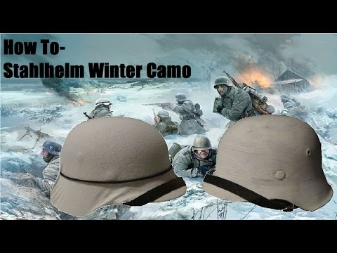 How To - Stahlhelm Winter Camo || TWO WAYS!
