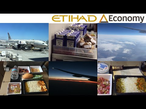 Etihad Airways CORAL ECONOMY Class: Los Angeles to Abu Dhabi