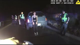 Video: Woman driving without tire dodges police checkpoint