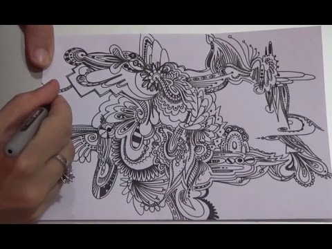 Watch Me Draw! Stream of Consciousness Abstract Art made at Nithyananda Adheenam