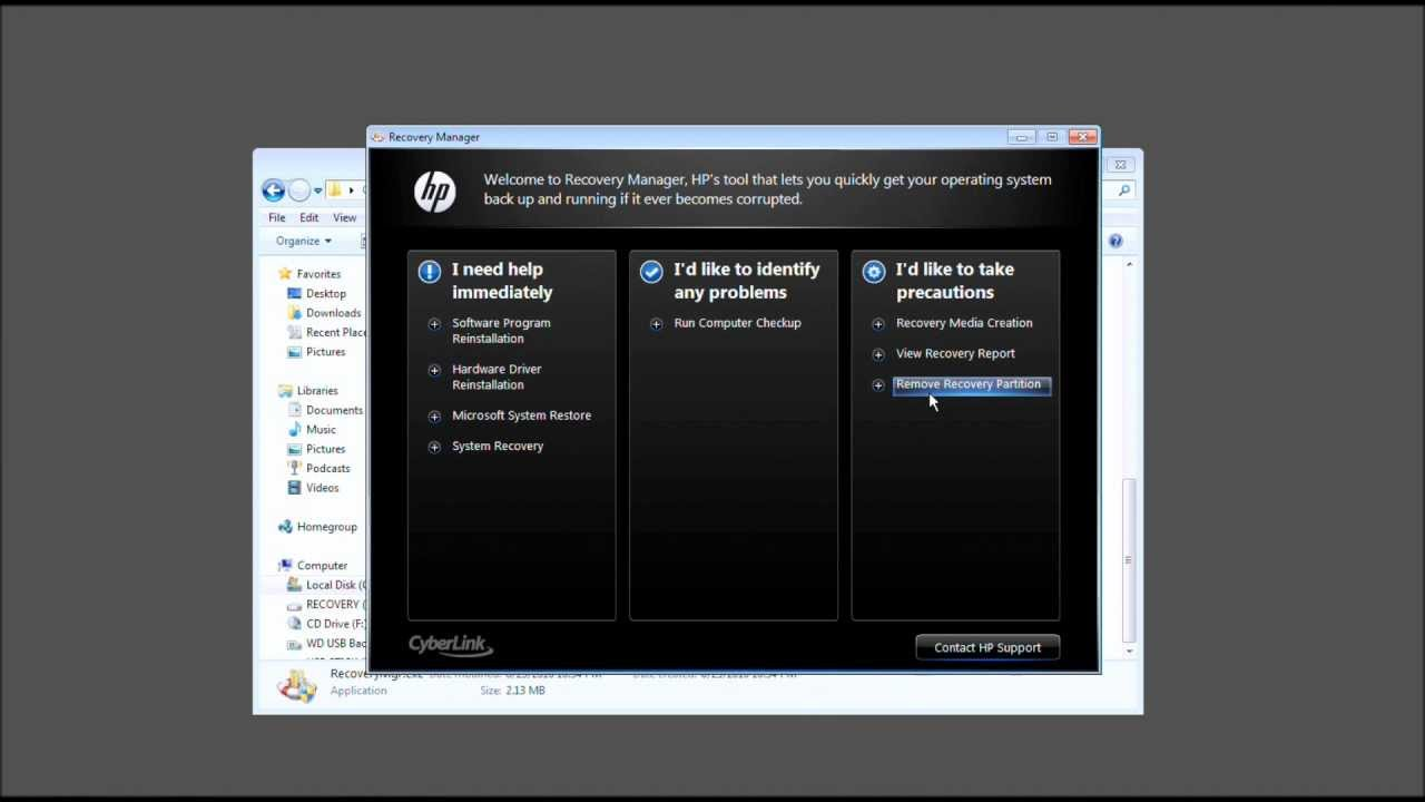 hp laptop recovery disk windows 7 download