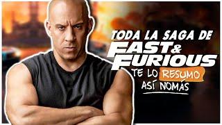 La Saga De Rapido Y Furioso | De correr carreras ilegales a salvar al mundo | #TeLoResumo