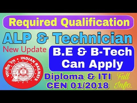 B.E & B-Tech Student Are Eligible Or Not for Railway ALP & Technician Educational Qualification ALP