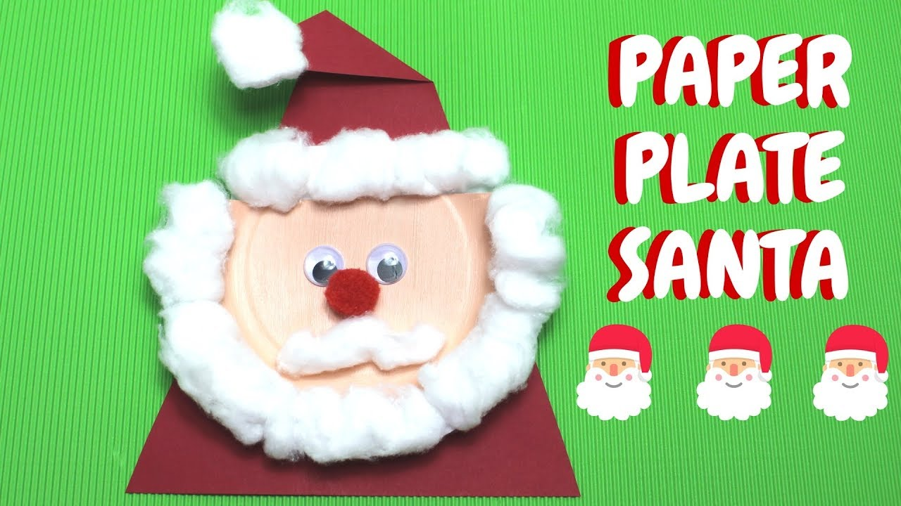 santa claus craft ideas paper plate santa ideas paper plate crafts 5362