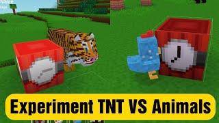 Experiment TNT Vs Animals - Block Craft 3d: Building Simulator Games for Free screenshot 3