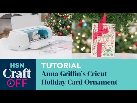 How to Use the Cricut Maker | DIY Holiday Card Ornament | HSN Craft Off