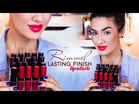 Rimmel Lasting Finish Lipstick | by Kate ♡ Matte | Ревью + 20 Свотчей на Губах | 3 Линейки