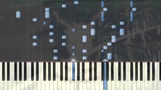 [Naruto Shippuden] OP 13 Niwaka Ame Nimo Makezu Piano Synthesia Tutorial
