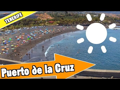 Puerto de la Cruz Tenerife Spain: Tour of beach and resort