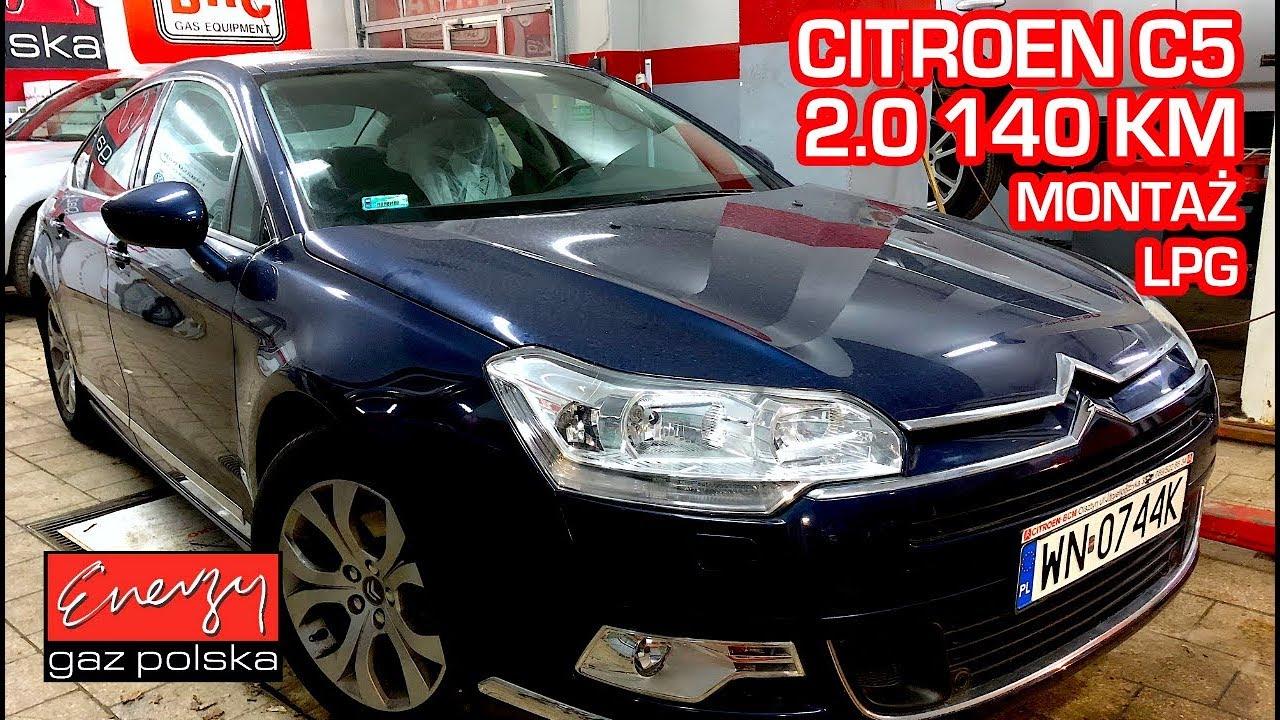 Montaż LPG Citroen C5 z 2.0 140KM 2008r w Energy Gaz Polska na gaz BRC SQ 32