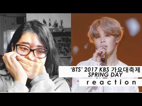 BTS (방탄소년단) 2017 KBS 가요대축제 Spring Day Performance Reaction || IM IN TEARS