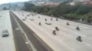 hells angels on the run! (freeway)