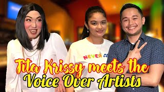 Tita Krissy Meets The Voice Over Artists | NAG-SAMPLE V.O. DIN AKO OMG! MAGANDA KAYA ANG RESULTS???