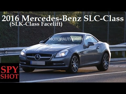 2016 mercedes benz slc class slk class facelift spy shot youtube. Black Bedroom Furniture Sets. Home Design Ideas