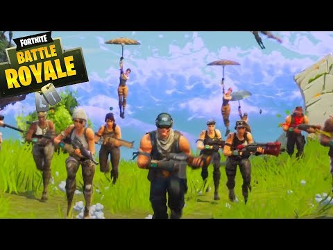 TAKING ON 20 PLAYERS! - Fortnite 50 vs 50 Battle Royale