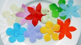 Необычный ЦВЕТОК из бумаги. Раскрывается НА ВОДЕ / Unusual FLOWER of paper is Revealed ON the WATER