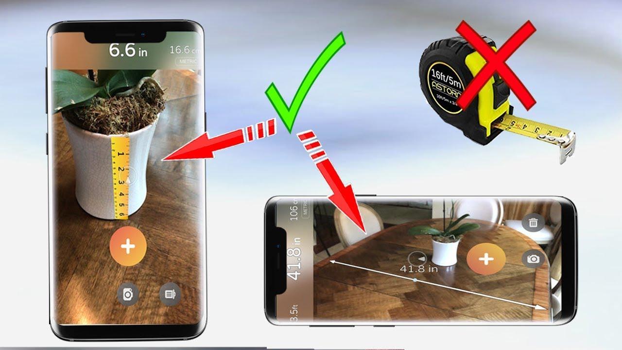 قياس اي مسافة او الابعاد دون استعمال شريط القياس من خلال الهاتف قياس طول الاجسام Youtube
