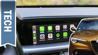 Alfa Connect 3D Nav in Stelvio & Giulia im Infotainment Test: Apple CarPlay, Bedienung & Funktionen