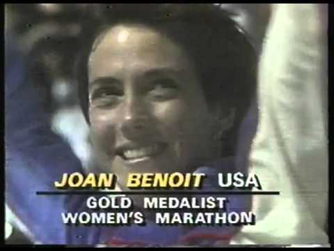 Olympics - 1984 Los Angeles - Womens Marathon Highlights & Medal Ceremony - USA Joan Benoit