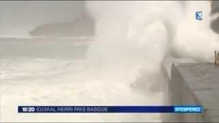 Grandes marées sur le littoral basque jusqu