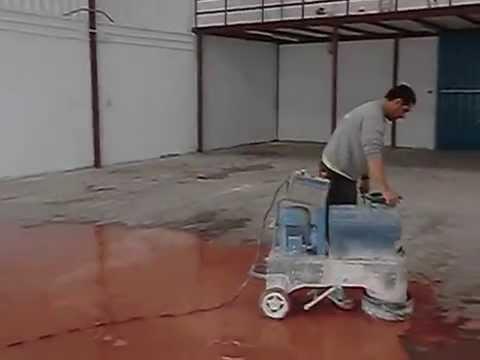Puliendo nave industrial para pintar con pintura epoxi - Pintura epoxi para suelos ...