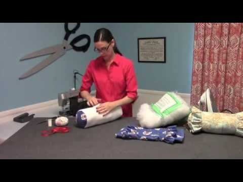 Ruffled Neckroll Pillow Video Preview From HomeDecGal YouTube New Decorative Neck Roll Pillow