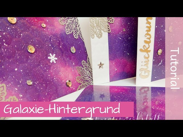 Galaxy on Glossy Cardstock, Galaxie-Hintergrund auf Glanzkarton - Stampin Up! Demonstratorin