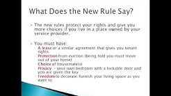 Federal Home and Community Based Setting Rule: What it Says and What it Means