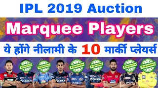IPL 2019 Auction List Of All 10 Marquee Players Expected to Be the Part Of Auction
