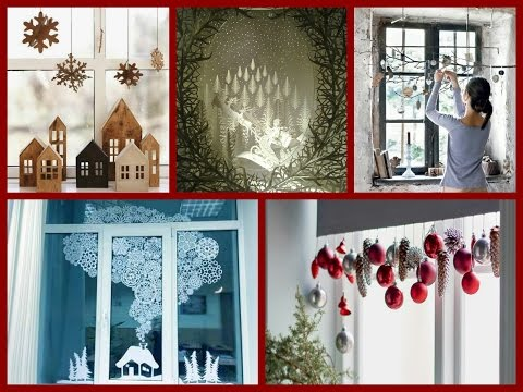 DIY Christmas Window Decorations Ideas - Winter Decorating Ideas