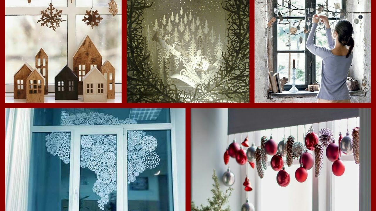 diy christmas window decorations ideas winter decorating ideas - Christmas Window Decorations