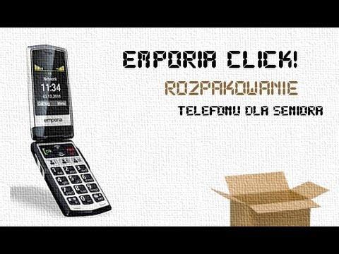 Emporia Click rozpakowanie telefonu dla seniorów