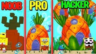 Minecraft - NOOB PRO HACKER - Spongebob Squarepants House!