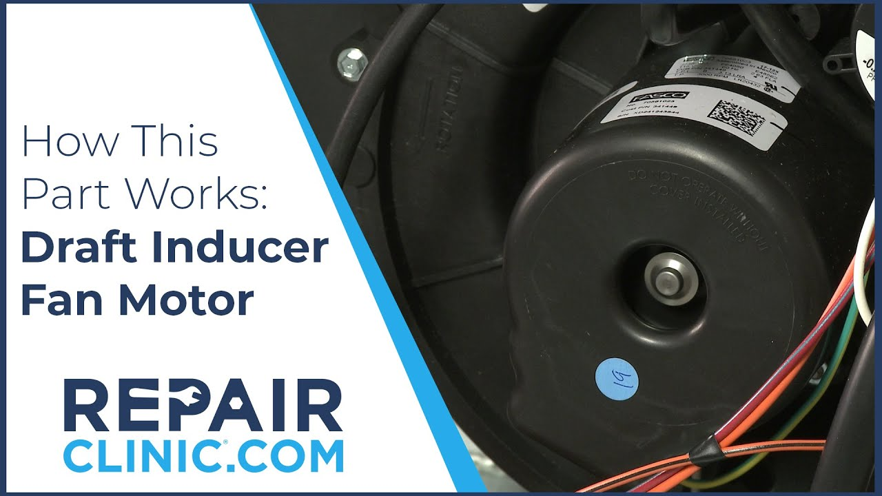 Furnace Draft Inducer Fan Motor Replacement Youtube