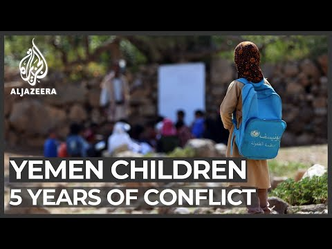 Yemen: Five years of conflict leaves millions of children suffering Thursday marks five years since the beginning of Yemen's continuing civil war. The Saudi-led coalition's involvement has had a devastating effect on the mental ..., From YouTubeVideos