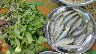 The Wild Arum & Hilsa/Elish Fish Mashed Cooking - A Tribal Recipe - Tasty  Ghetkol/Kharkol Vorta