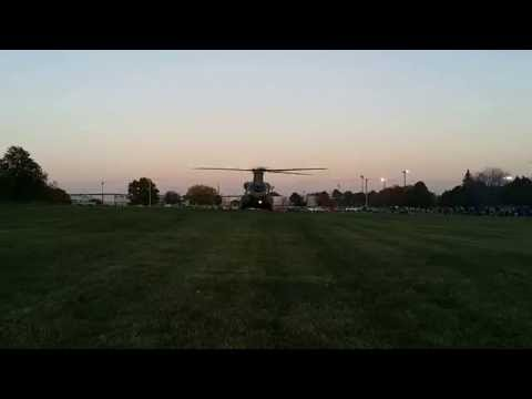 Chinook CH-47 Taking off from Rockwell Collins