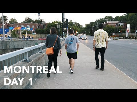Going to Canada for the first time - Montreal Day 1