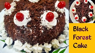 Black Forest Cake Recipe without OvenHow to make Black Forest Cake at HomeEggless