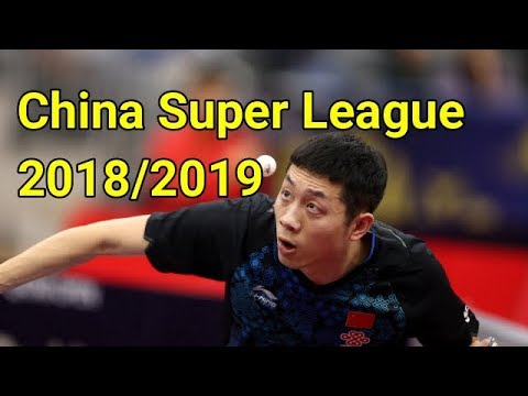 Xu Xin Vs Zhang Chao China Super League 2018 2019