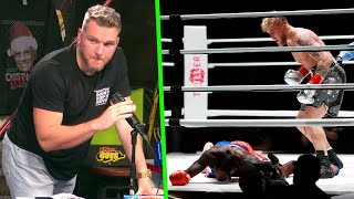 Pat McAfee Reacts To Jake Paul KNOCKING OUT Nate Robinson
