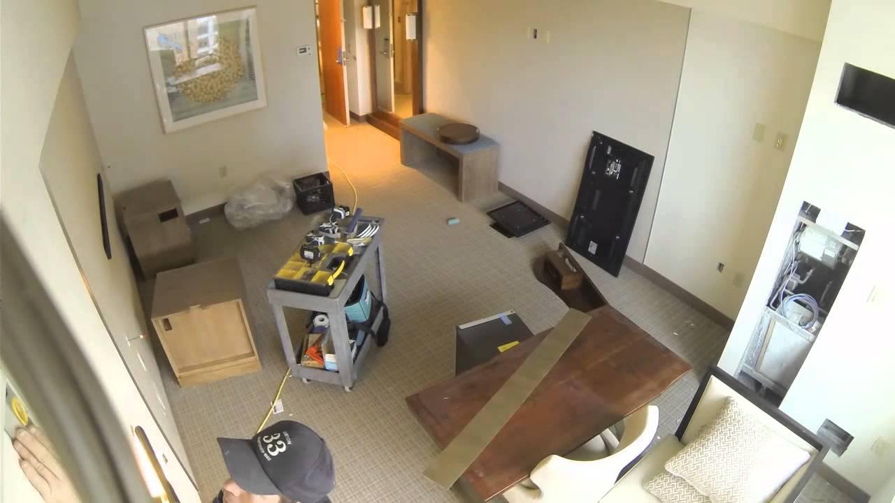 seaport boston hotel guest room renovation 2014 youtube