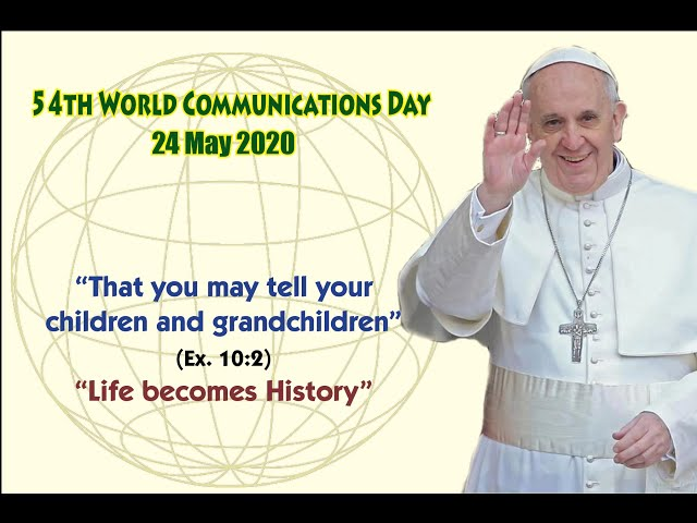 Message for World Communications Day 2020